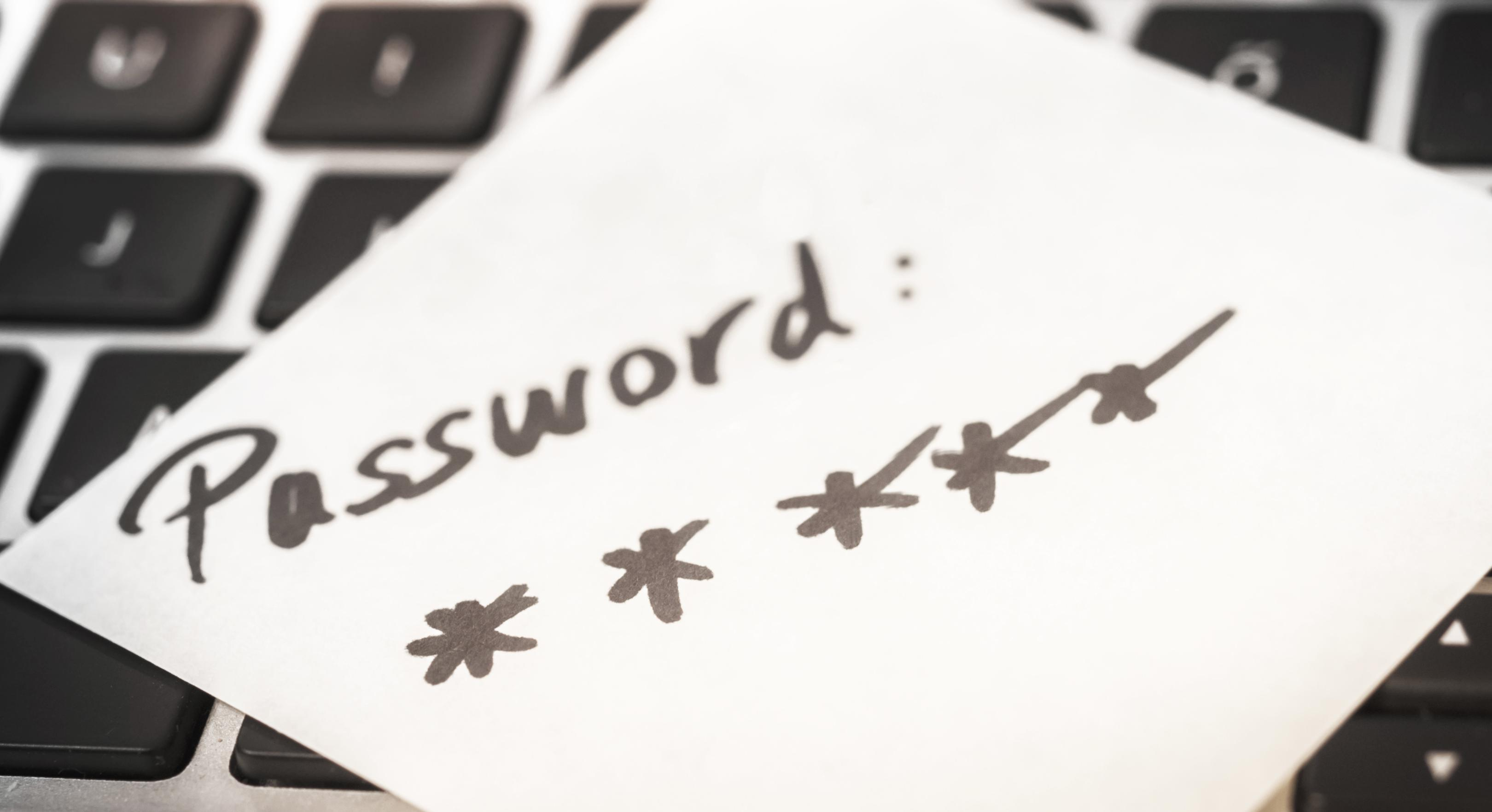 password on post it note